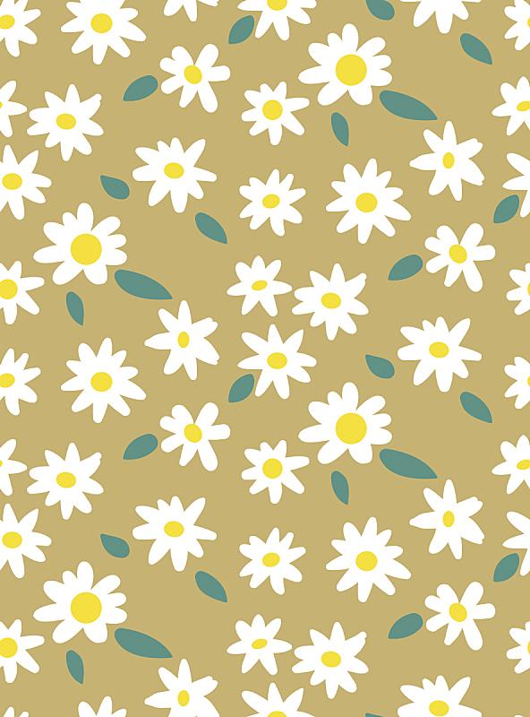 可爱的,涂料,春天,背景,夏天,极简构图,雏菊,矢量,花纹,动物手
