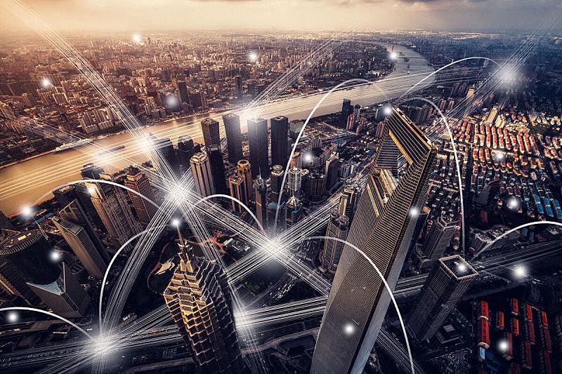 计算机网络,城市,网线插头,金茂大厦,上海环球金融中心,无线技术,云计算,大数据,著名景点,计算机制图