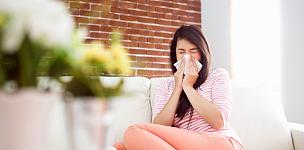 人的鼻子,沙发,女人,枯草热,擤鼻子,病毒感染,家庭生活,室内,纸巾,病毒