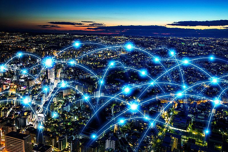 无线电通信装置,复合媒材,计算机网络,抽象,概念,智慧城市,纤维光学,人口爆炸,纤维,电
