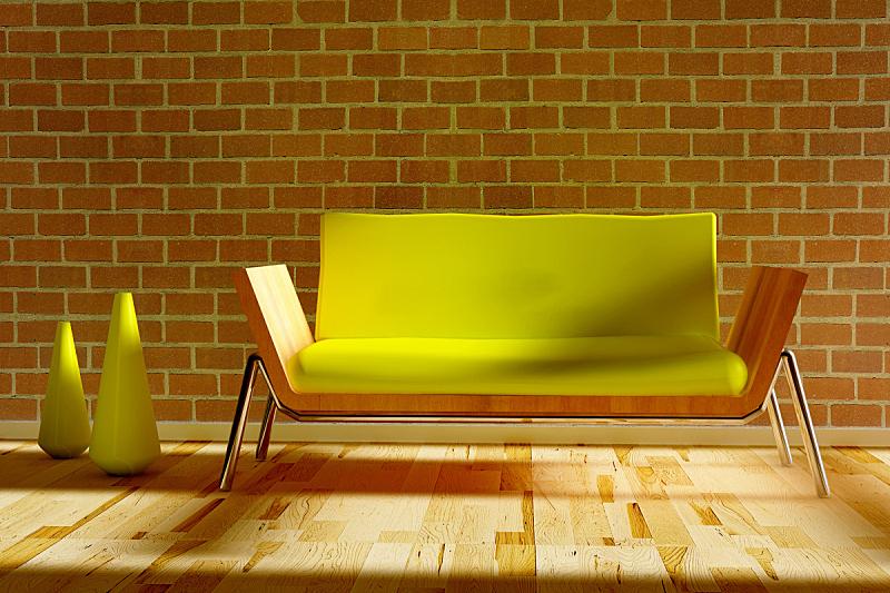 沙发,花瓶,高雅,华丽的,室内,住宅房间,水平画幅,无人,起居室,地板