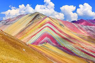 秘鲁,库斯科地区,弓山,彩虹,安地斯山脉,山,科罗拉多州,自然,天空,水平画幅