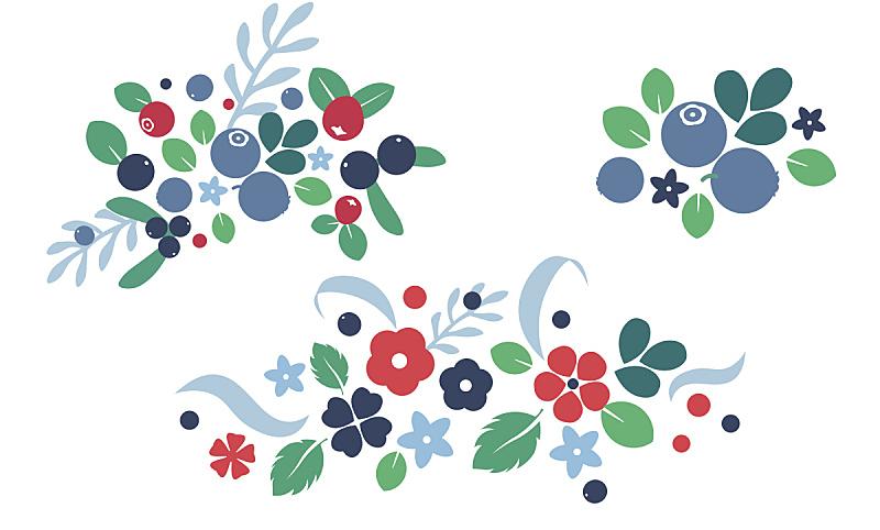 背景,平坦的,矢量,式样,彩色图片,浆果,创造力,甘菊花,民间音乐,商务
