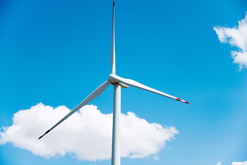 风轮机,天空,蓝色,风力机,风力,可再生能源,涡轮,螺旋桨,留白,风