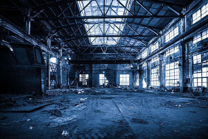 工厂,过时的,拆毁的,建筑体,古老的,建筑材料,金属,凌乱,被抛弃的,建筑业