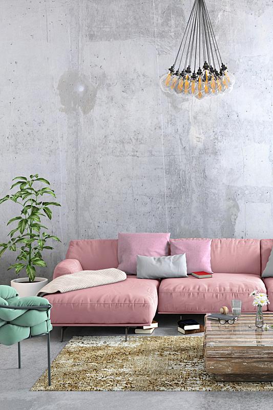 现代,沙发,起居室,室内,大特写,大量物体,北欧,华贵,舒服,简单