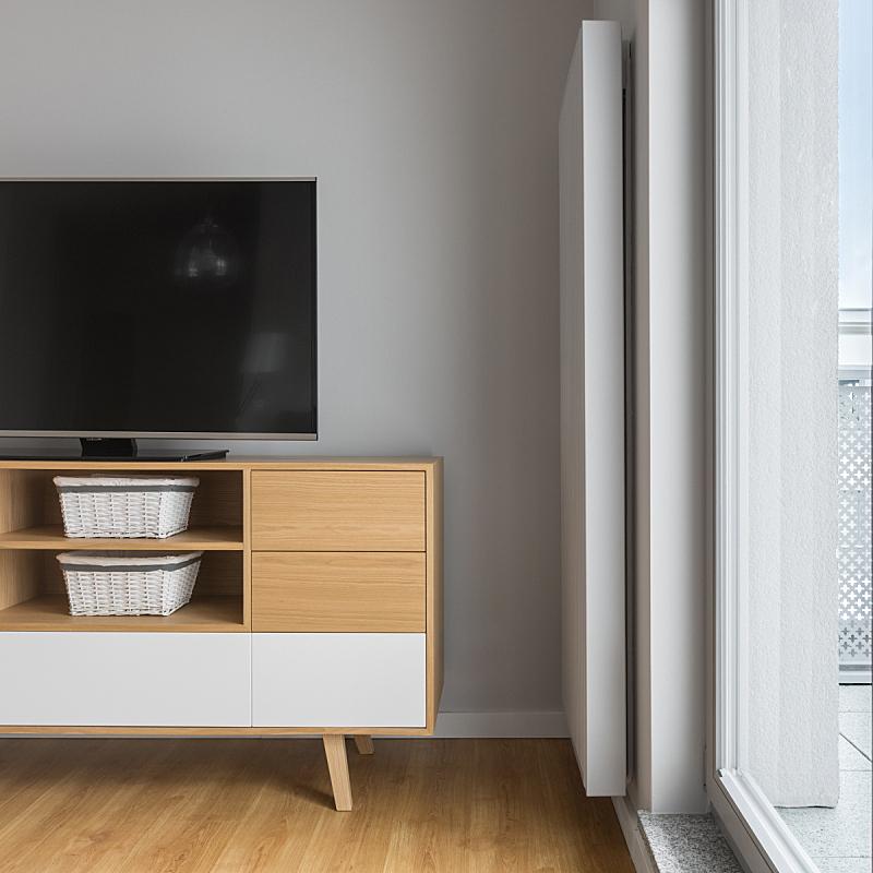 木制,柜子,电视机,门板,散热器,新的,灵感,边框,墙,无人