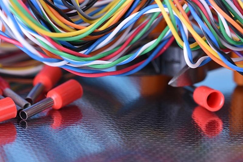 电子元件,电,古老的,电缆,留白,水平画幅,组物体,背景分离,特写,金属丝