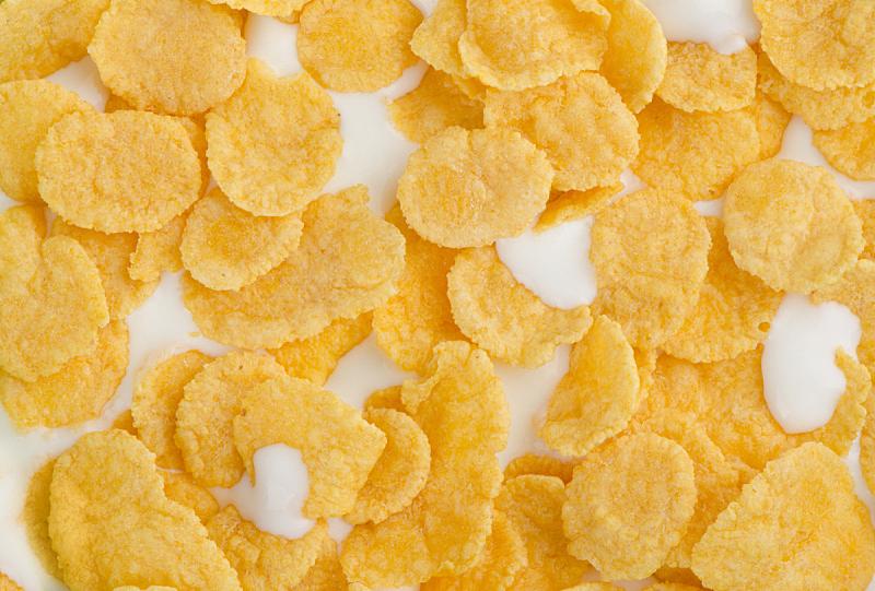 玉米片,牛奶,饮食,早餐,水平画幅,无人,玉米,饮料,小吃,特写