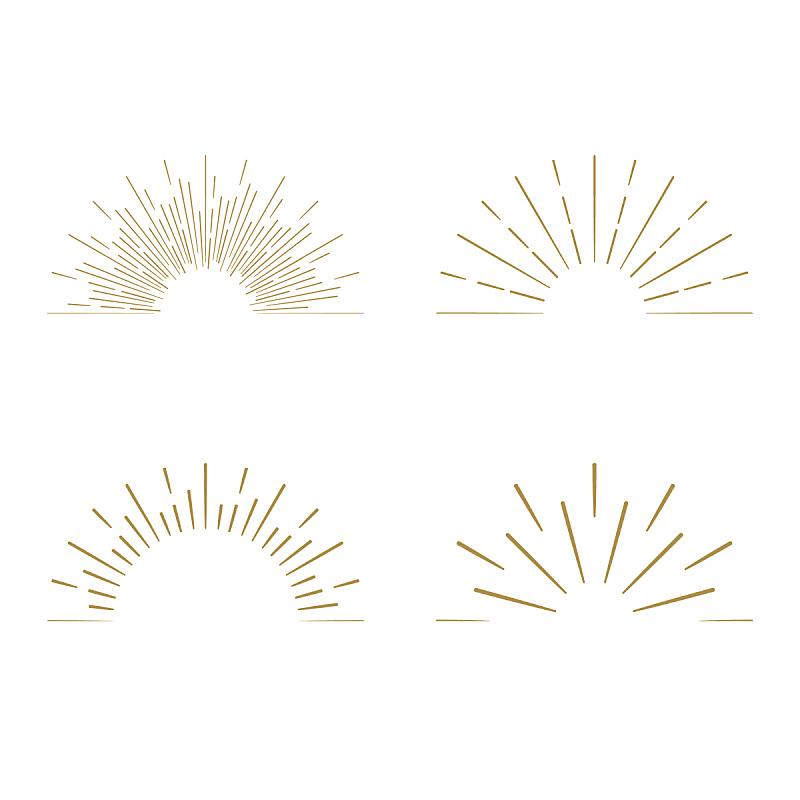 标签,光,焰火,矢量,黄金,太阳,极简构图,计算机图标,边框,形状