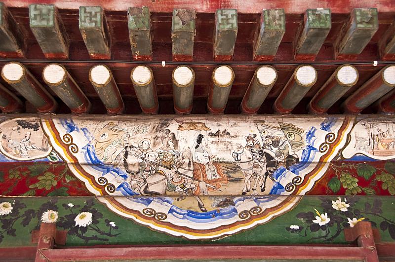 颐和园,北京,中国,大特写,亭台楼阁,宫殿,国际著名景点,屋顶,水平画幅,古老的