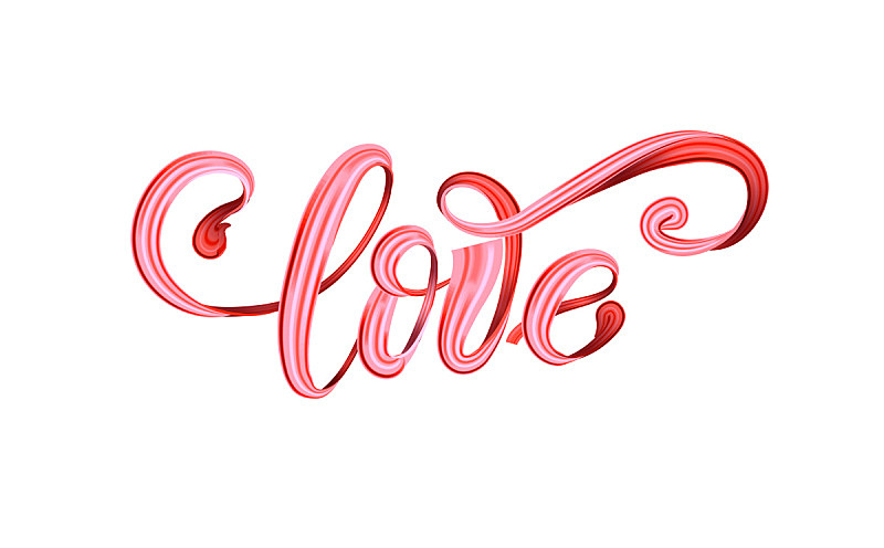 """hand drawn heart with paint """"LOVE"""" lettering"""