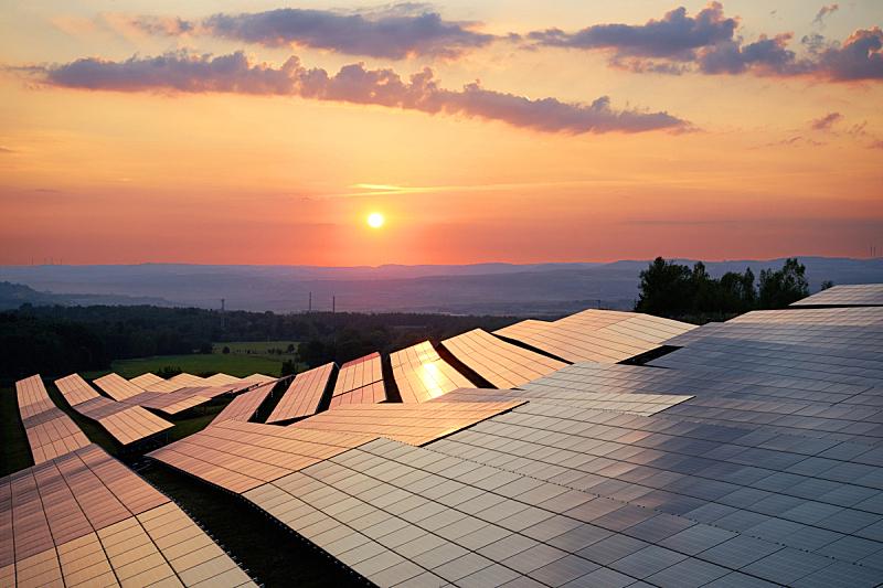 太阳能发电站,太阳能电池板,ge大厦,替代能源,可再生能源,太阳,格子,捷克,工业,太阳能