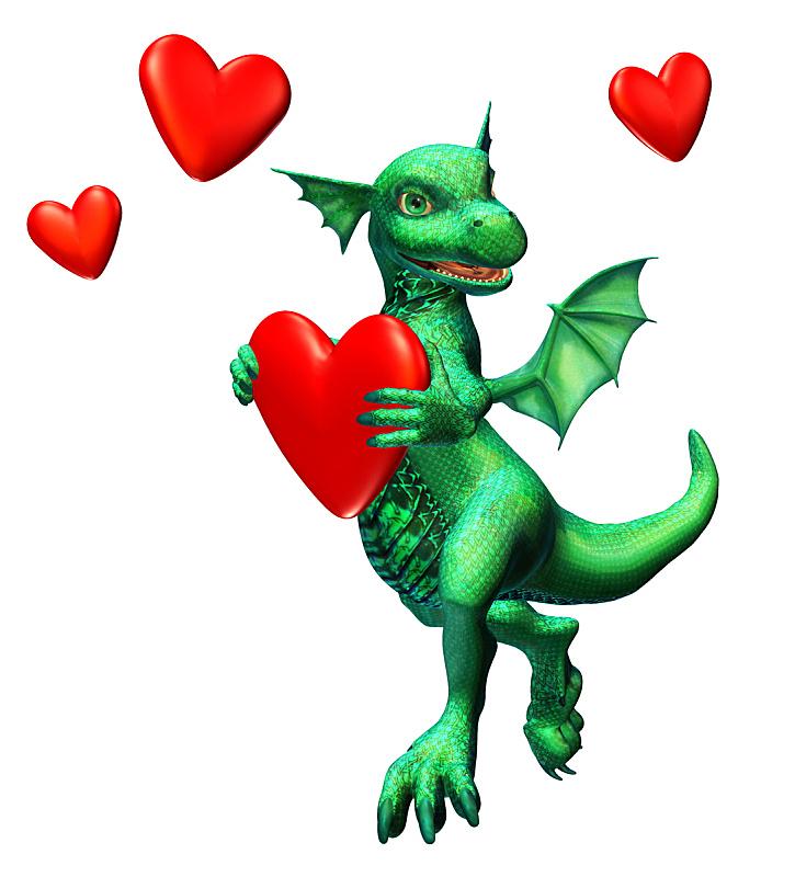 龙,关系紧张,垂直画幅,可爱的,无人,动物,心型,浪漫,白昼,情人节