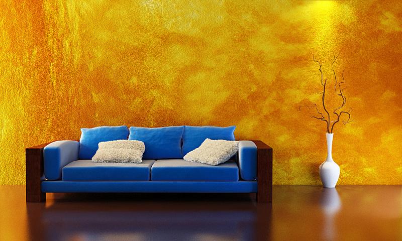 沙发,三维图形,水平画幅,形状,墙,无人,绘画插图,家具,现代,室内