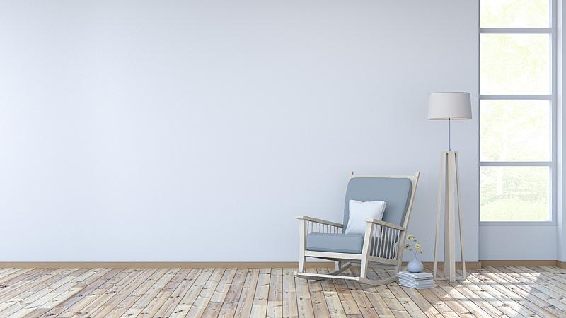 室内,墙,硬木地板,白色,住宅房间,三维图形,扶手椅,新的,边框,艺术