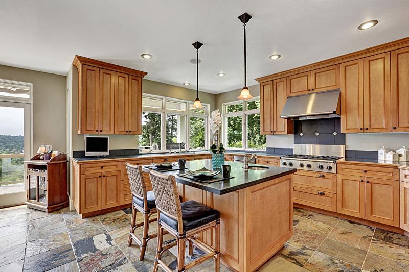 住宅房间,钢铁,室内,用具,厨房,现代,极简构图,冰箱,窗户,水平画幅