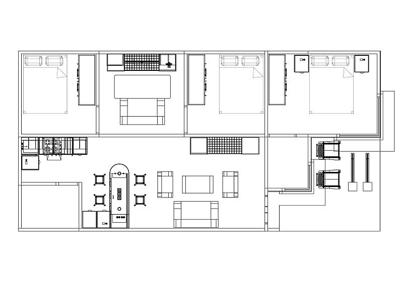 蓝图,公寓,计划书,分离着色,水平画幅,格子,家具,居住区,建筑业,工业
