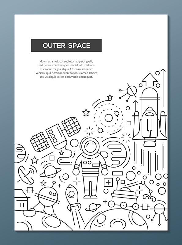 计划书,模板,太空,小册子,成一排,麦克唐纳·道格拉斯f-4,线条,事件,科技