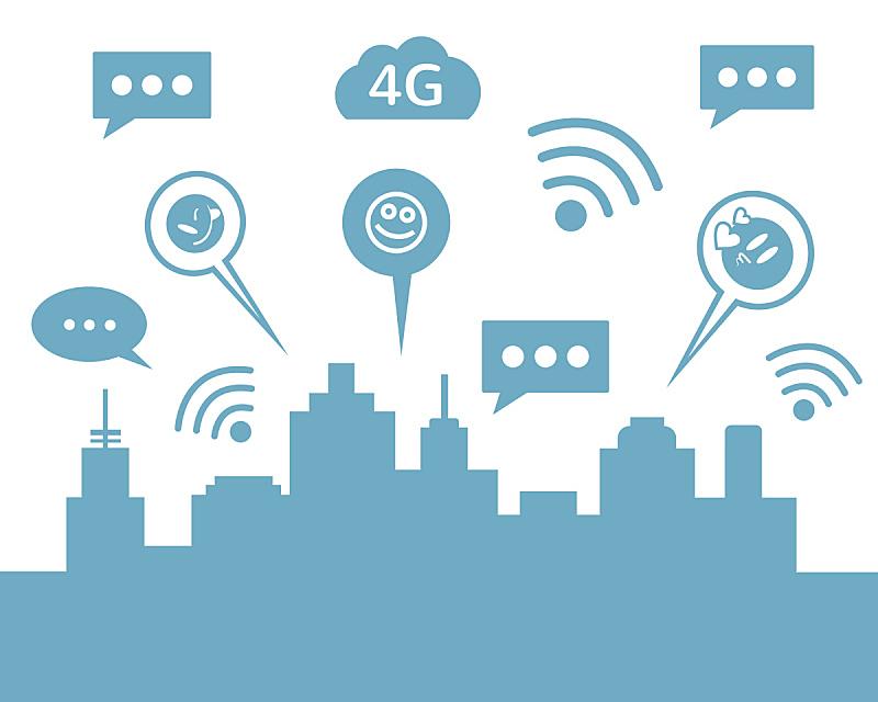 绘画插图,矢量,平坦的,智慧城市,传媒,商务,电子邮件,计算机,沟通
