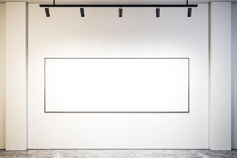 空的,极简构图,边框,模板,豪宅,走廊,三维图形,布告栏
