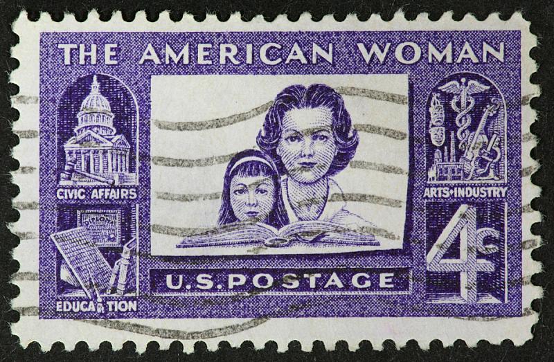 1960,女性与母性,女人,美国,艺术,水平画幅,邮戳,工业,彩色图片