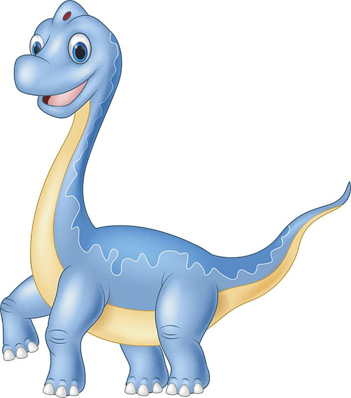 恐龙,巨大的,腕龙,白色背景,可爱的,一个物体,已灭绝生物,侏罗纪,动物,欧戈立峰