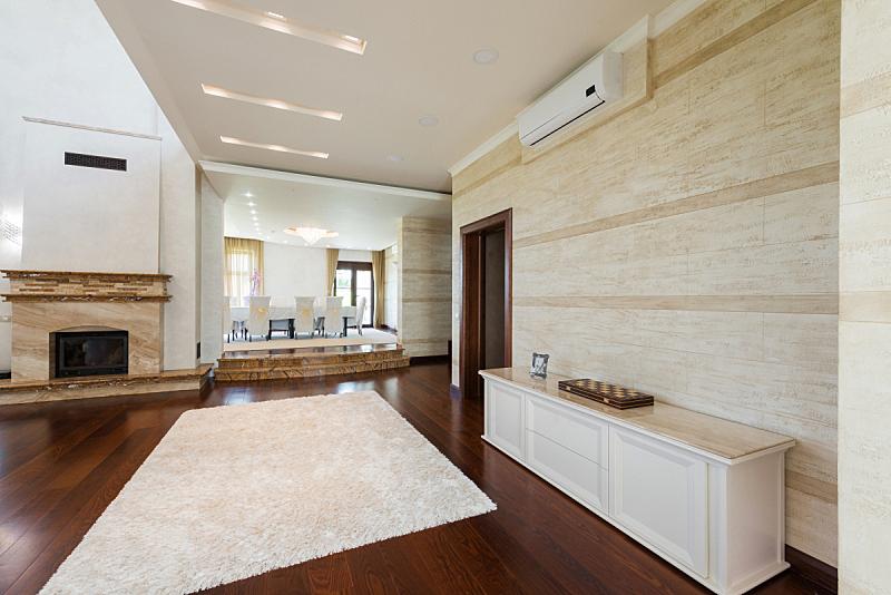 建筑平台,室内,起居室,褐色,新的,水平画幅,无人,家具,现代,白色