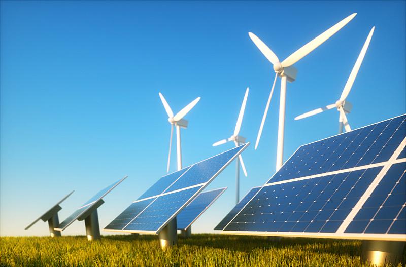 能源,概念,可再生能源,替代能源,风力,太阳能发电站,太阳能,太阳能电池板,可持续资源,风轮机