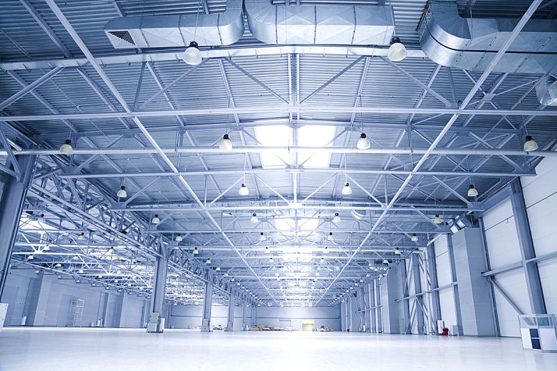 仓库,现代,飞机库,大型商场,新的,水平画幅,墙,工作场所,无人,巨大的