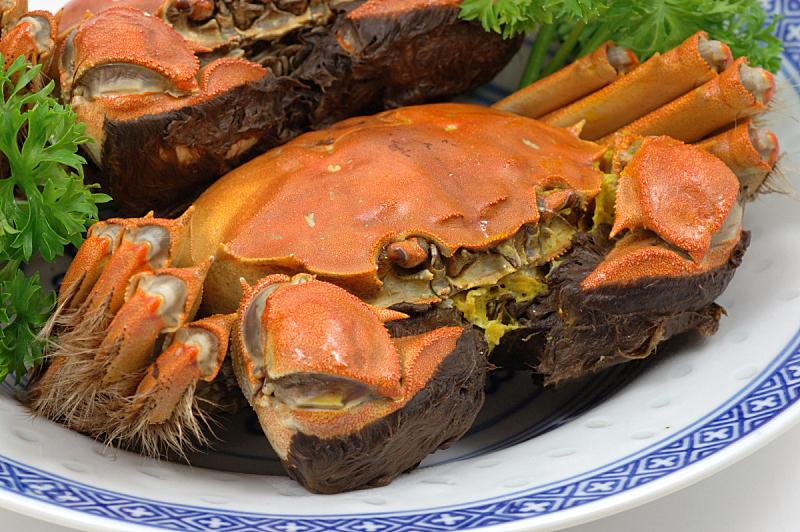 上海,蒸菜,螃蟹,饮食,水平画幅,连指手套,海产,湖,特写