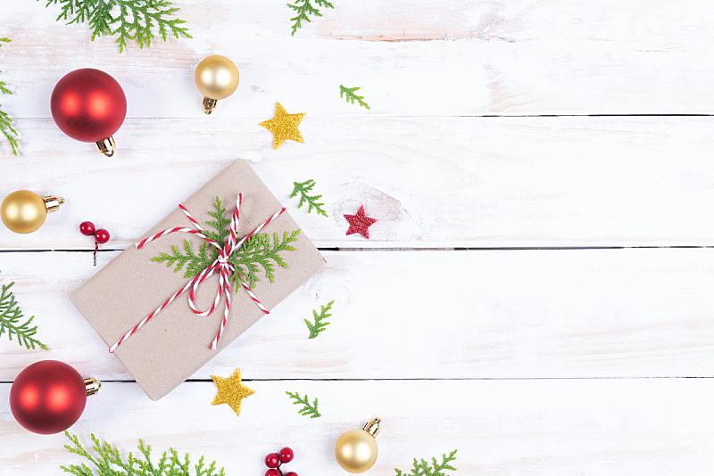 木制,白色,红色,概念,枝,桌子,包装纸,浆果,松果