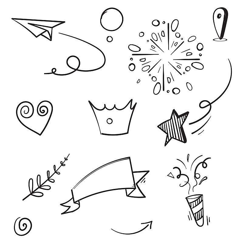乱画,手,绘画插图,卡通,抽象,概念,分离着色,化学元素周期表,矢量,设计