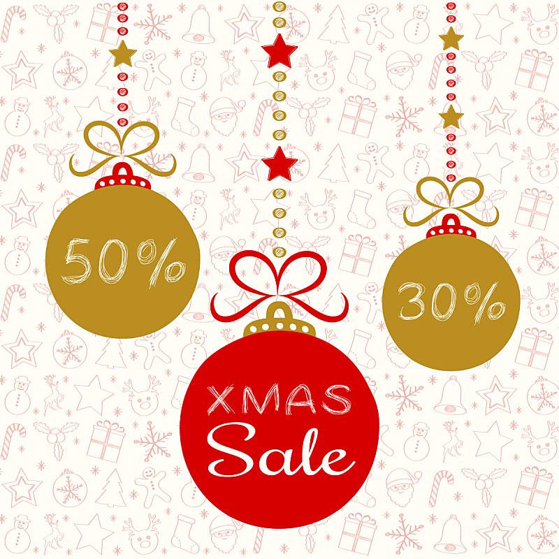 矢量,绘画插图,圣诞老人,标签,商店,周末活动,圣诞礼物,传单