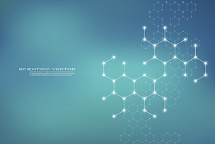 分子,六边形,分子结构,科学,脱氧核糖核酸,健康保健,矢量,绘画插图,背景