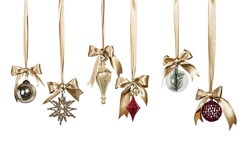 圣诞装饰物,项坠,悬挂的,摩拉维亚星,树顶装饰,圣诞装饰,银,缎带,银色