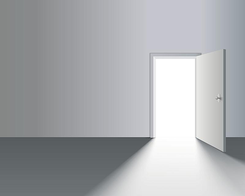 门,墙,开着的,门口,绘画插图,符号,户外,新创企业,自由,居住区