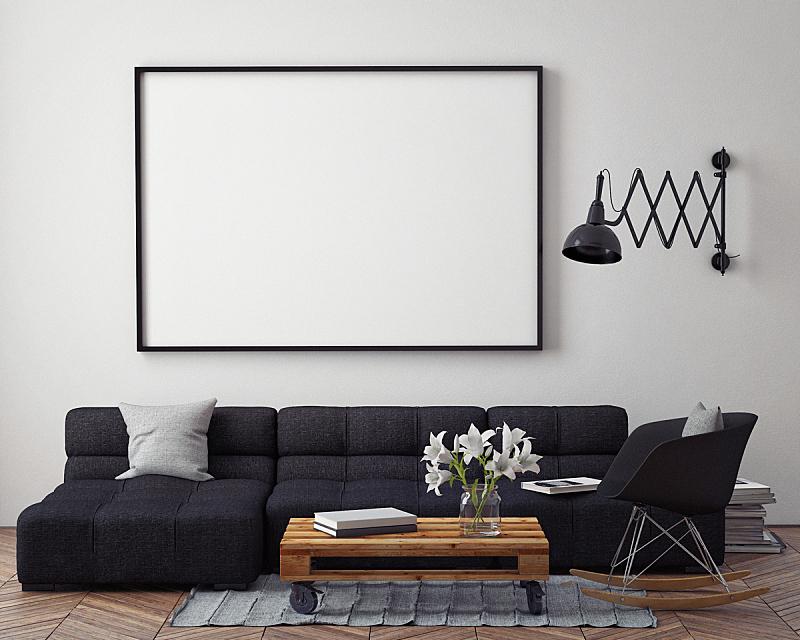 室内,正下方视角,轻蔑的,背景,极简构图,复式楼,相框,绘画艺术品,艺术