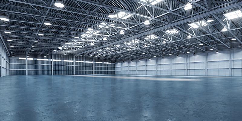 空的,仓库,商务,技术,现代,建筑业,钢铁,贮藏室,背景,三维图形
