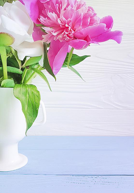 木制,牡丹,花瓶,自然美,背景,贺卡,清新,边框,浪漫,模板