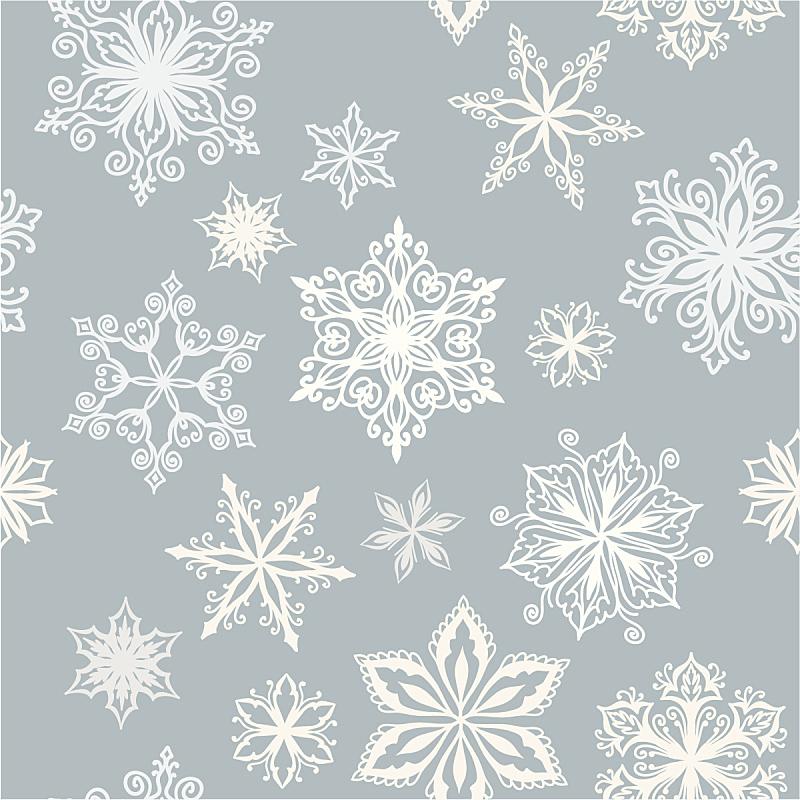 雪花,背景,雪,无人,绘画插图,四方连续纹样,十二月,冬天,矢量