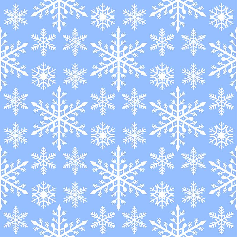 华丽的,四方连续纹样,背景,绘画插图,纸,雪花,矢量,新年前夕,传统