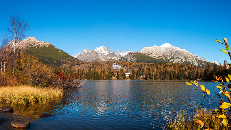 湖,山,国家公园,水平画幅,地形,秋天,无人,东欧,欧洲,户外