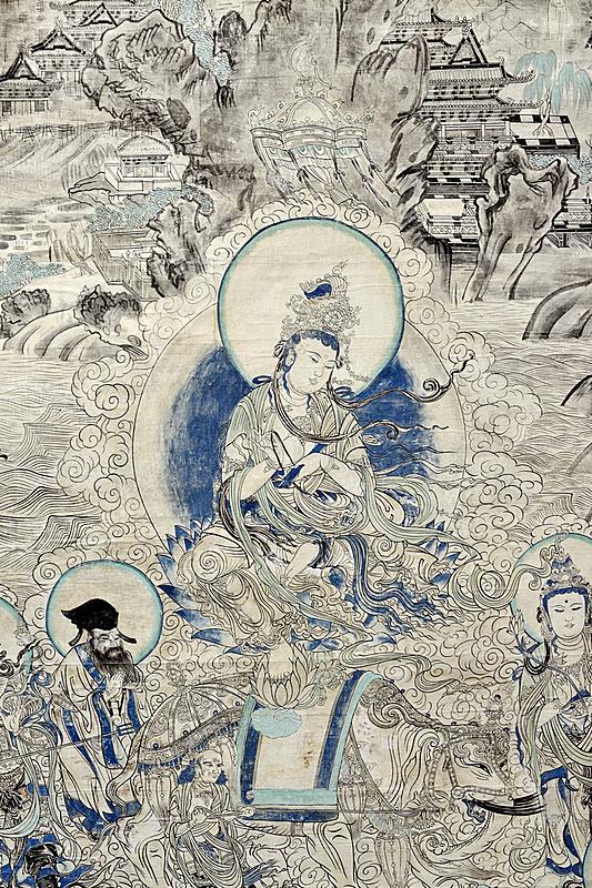 壁画,佛教,式样,莫高窟,丝绸之路,佛,敦煌,洞室,艺术,绘画艺术品