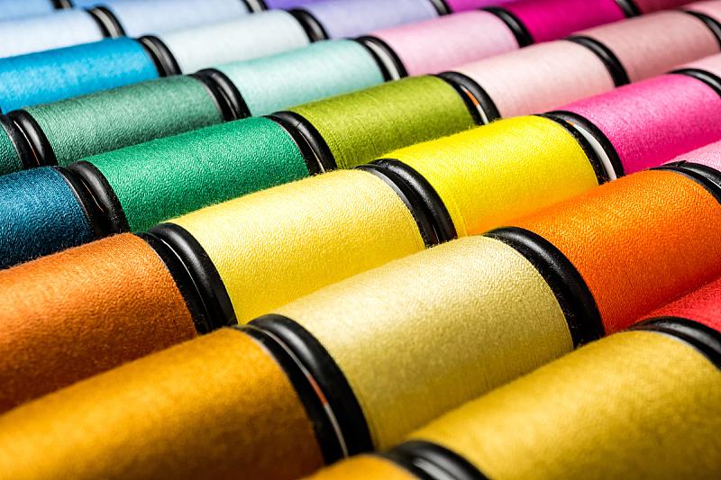 组物体,线轴,线,水平画幅,纺织品,纤维,特写,棉,泰国,裁缝