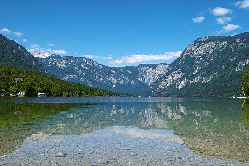 特里格拉夫国家公园,阿尔卑斯山脉,斯洛文尼亚,lake bohinj,波悉尼,池塘,水,天空,公园,洛矶山脉