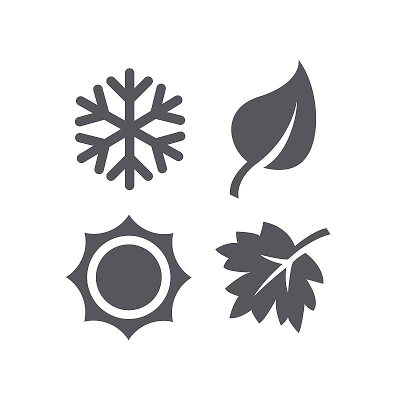 四季,计算机图标,乌克兰,图标,月,设计元素,自然界的状态,历日,雪花,四个物体