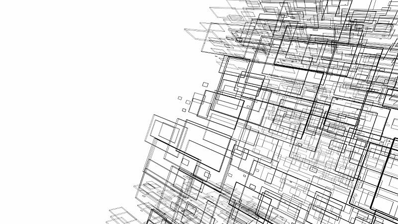 艺术,绘画插图,三维图形,建筑,抽象,概念,白色背景,线条,未来,边框