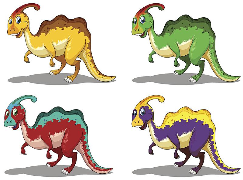 副栉龙,四只动物,自然,野生动物,无人,绘画插图,剪贴画,计算机制图,计算机图形学,图像
