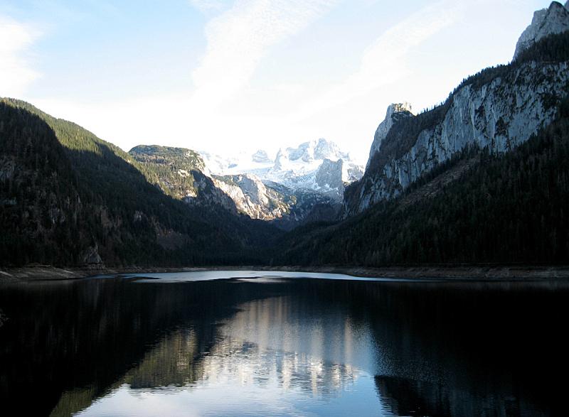 哈尔施塔特湖,水平画幅,雪,无人,户外,湖,非凡的,戏剧性的景观,奥地利,冬天
